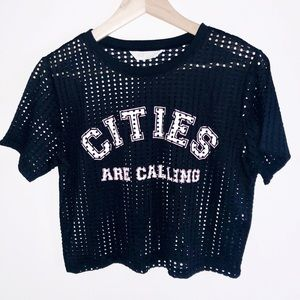 'Cities Are Calling' Jersey Crop Top